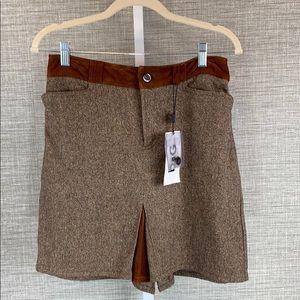 🎉HP🎉NWT Dolce & Gabbana Brown Wool Tweed Skirt
